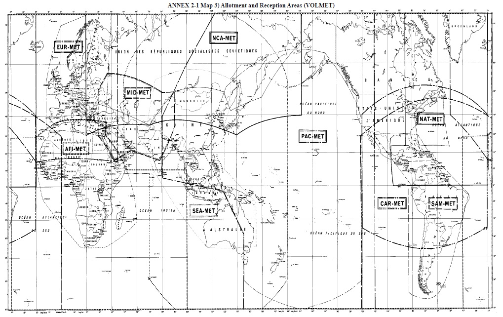 Aviation VOLMET map